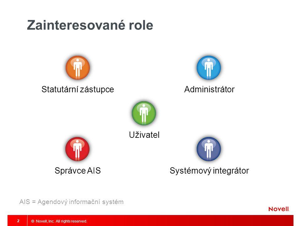 Zainteresované role Statutární zástupce Administrátor Uživatel