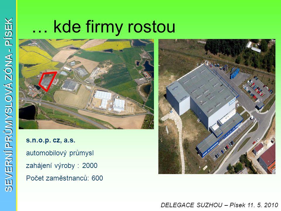 … kde firmy rostou SEVERNÍ PRŮMYSLOVÁ ZÓNA - PÍSEK s.n.o.p. cz, a.s.