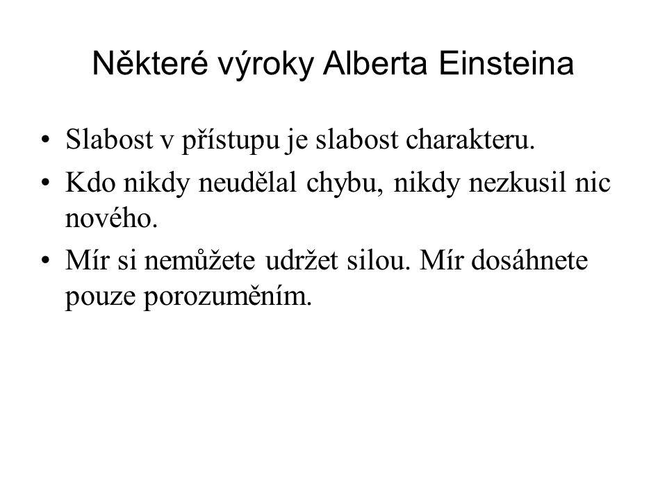 Některé výroky Alberta Einsteina