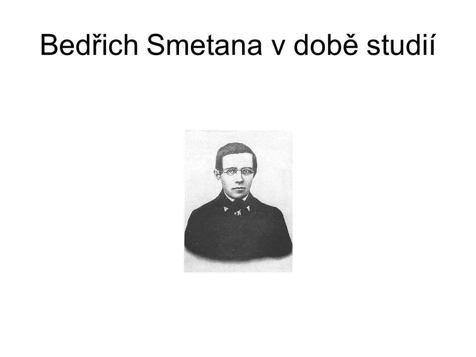 Bedřich Smetana v době studií