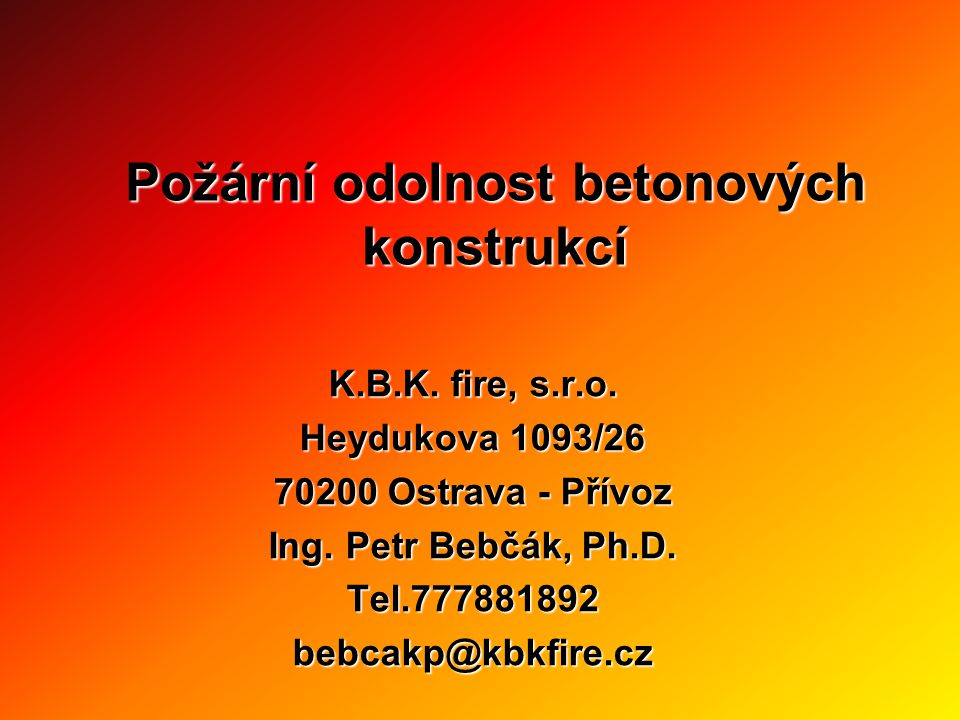 Požární odolnost betonových konstrukcí