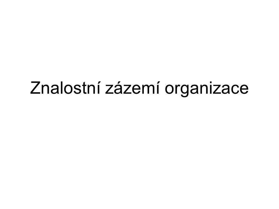 Znalostní zázemí organizace