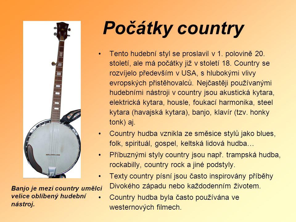 Počátky country