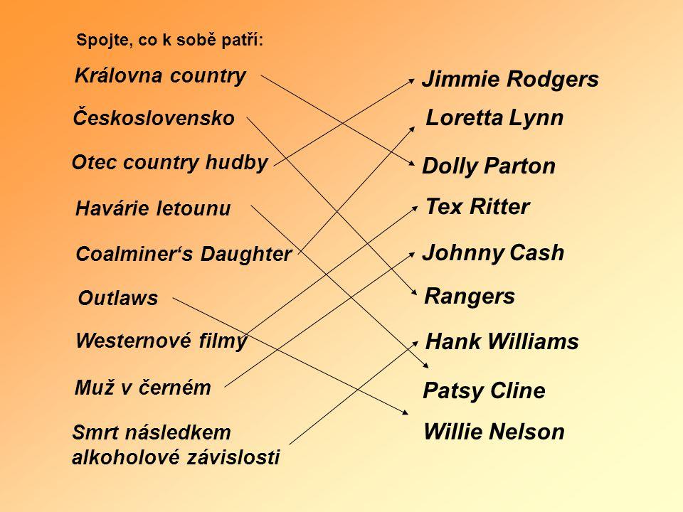 Jimmie Rodgers Loretta Lynn Dolly Parton Tex Ritter Johnny Cash