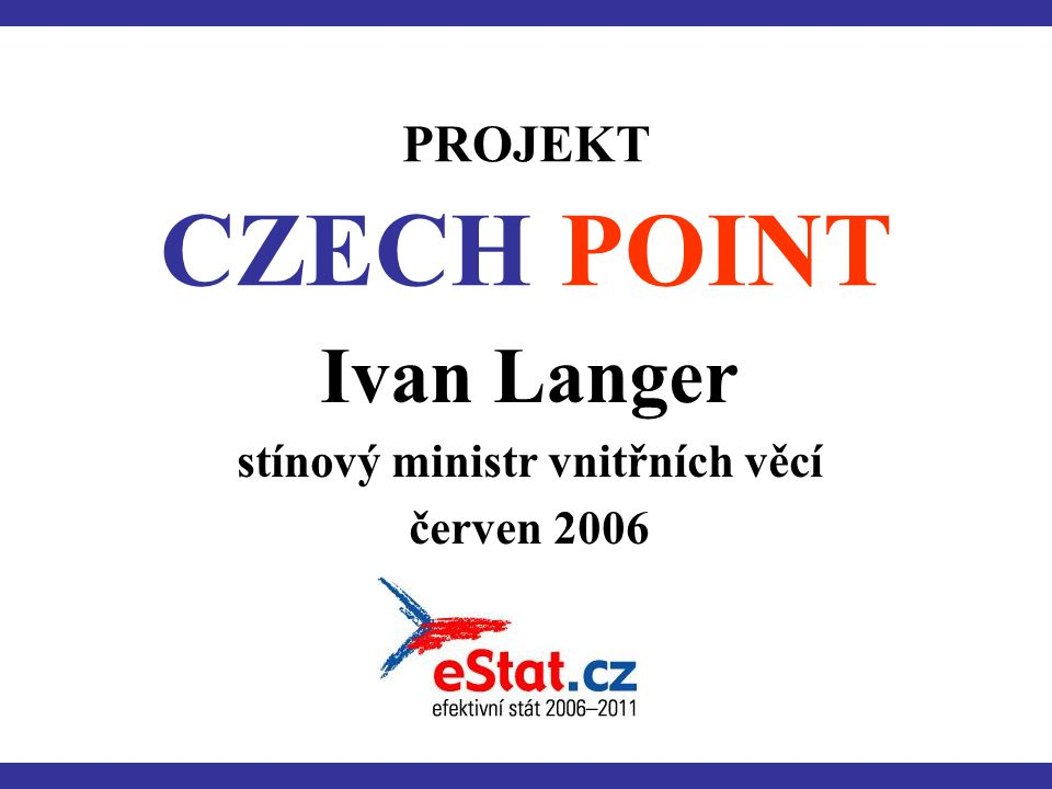 Ivan Langer stínový ministr vnitřních věcí červen 2006