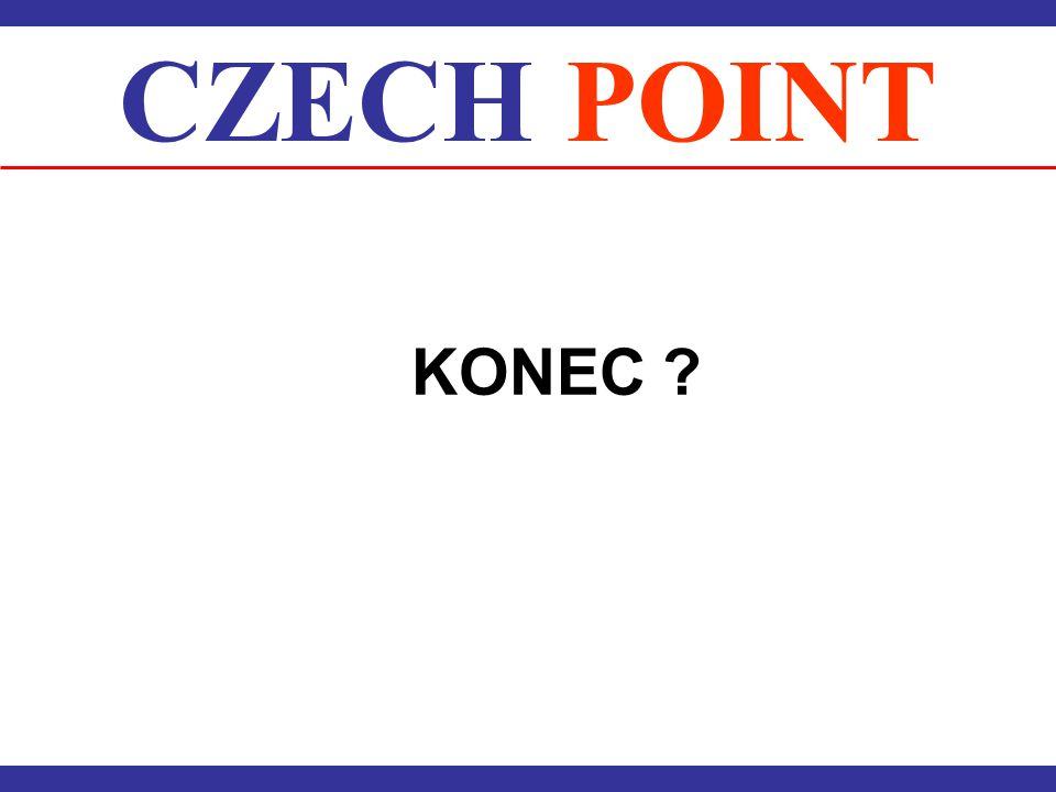 CZECH POINT KONEC