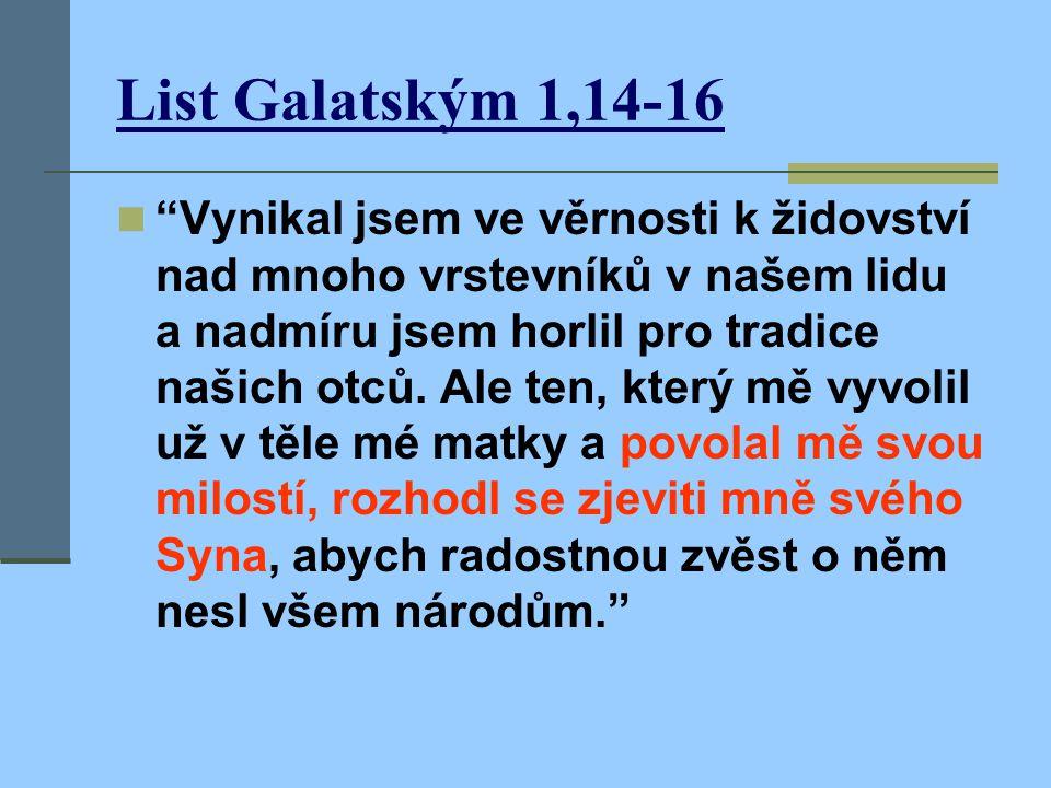 List Galatským 1,14-16