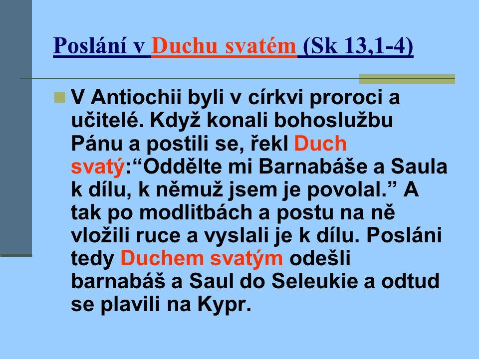 Poslání v Duchu svatém (Sk 13,1-4)