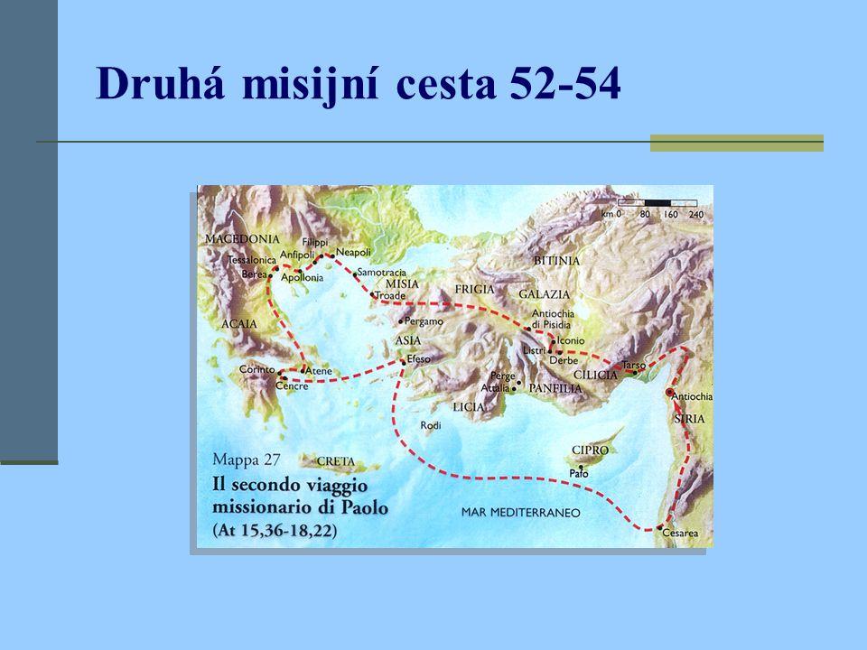 Druhá misijní cesta 52-54