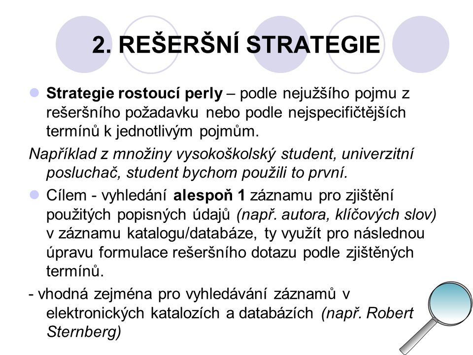 2. REŠERŠNÍ STRATEGIE