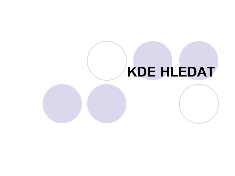 KDE HLEDAT