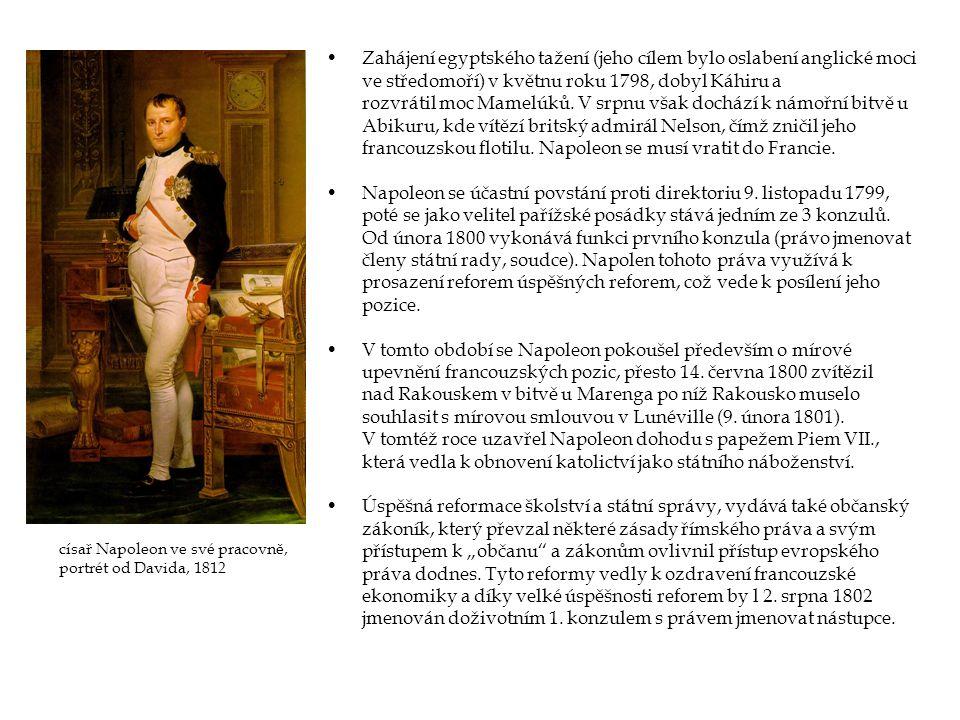 Napoleon se účastní povstání proti direktoriu 9. listopadu 1799,