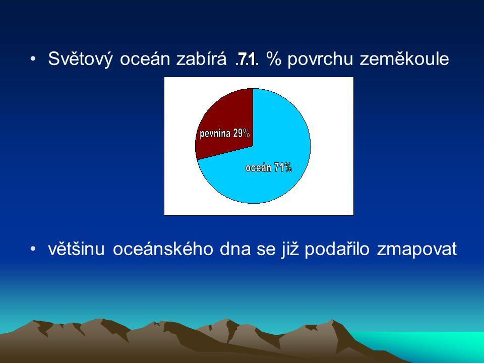 Světový oceán zabírá ..... % povrchu zeměkoule