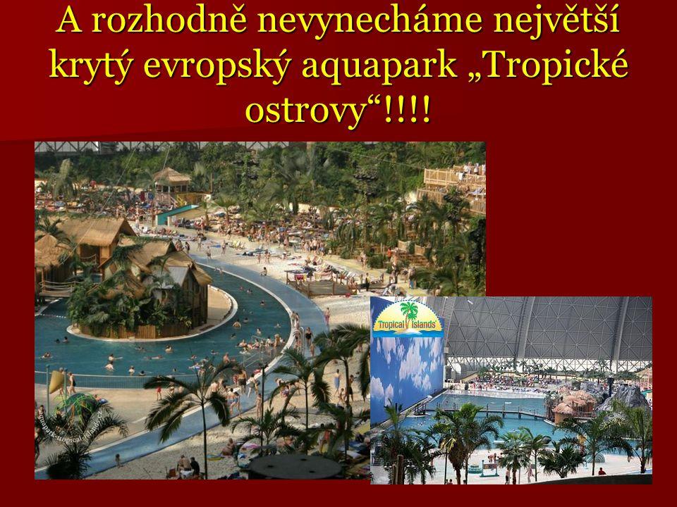"""A rozhodně nevynecháme největší krytý evropský aquapark """"Tropické ostrovy !!!!"""