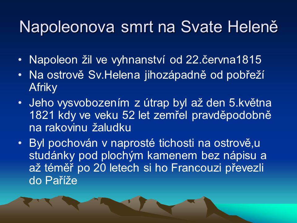 Napoleonova smrt na Svate Heleně