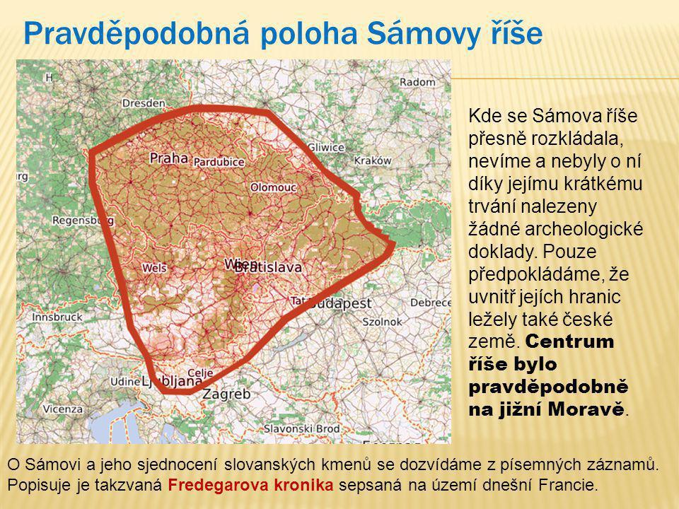 Pravděpodobná poloha Sámovy říše