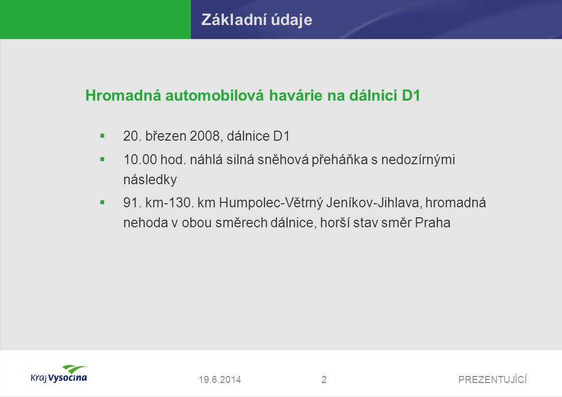 Základní údaje Hromadná automobilová havárie na dálnici D1