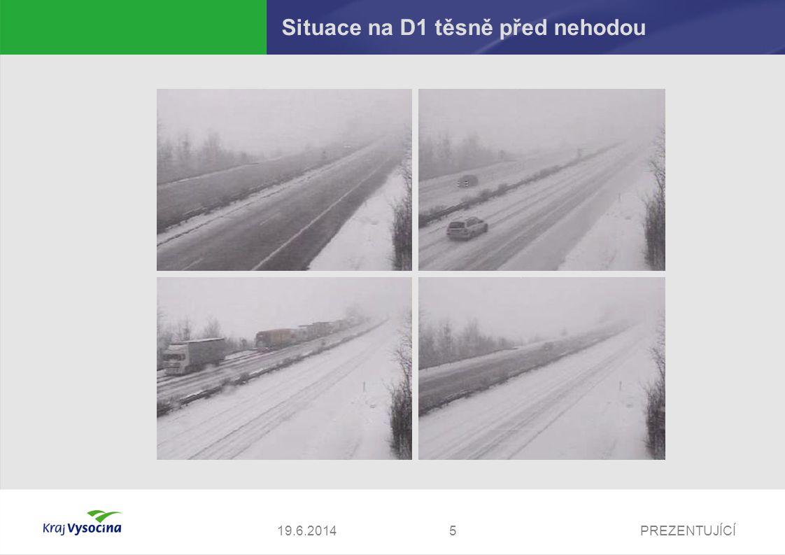 Situace na D1 těsně před nehodou