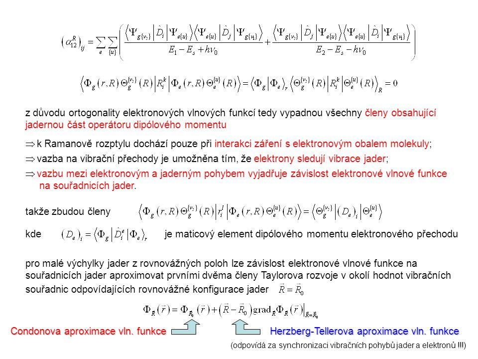 je maticový element dipólového momentu elektronového přechodu