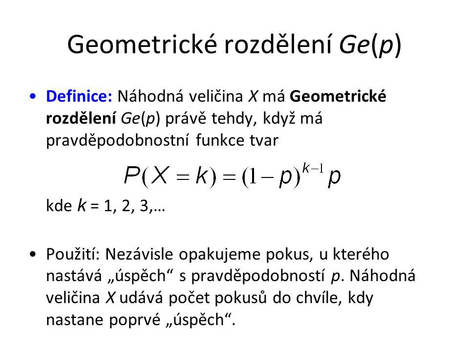 Geometrické rozdělení Ge(p)