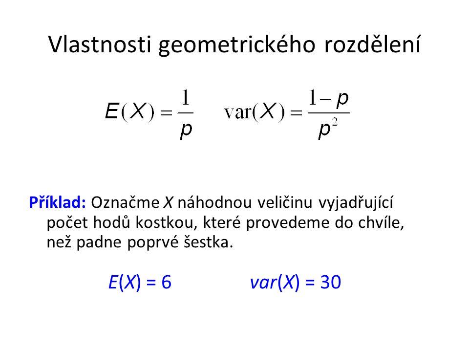 Vlastnosti geometrického rozdělení
