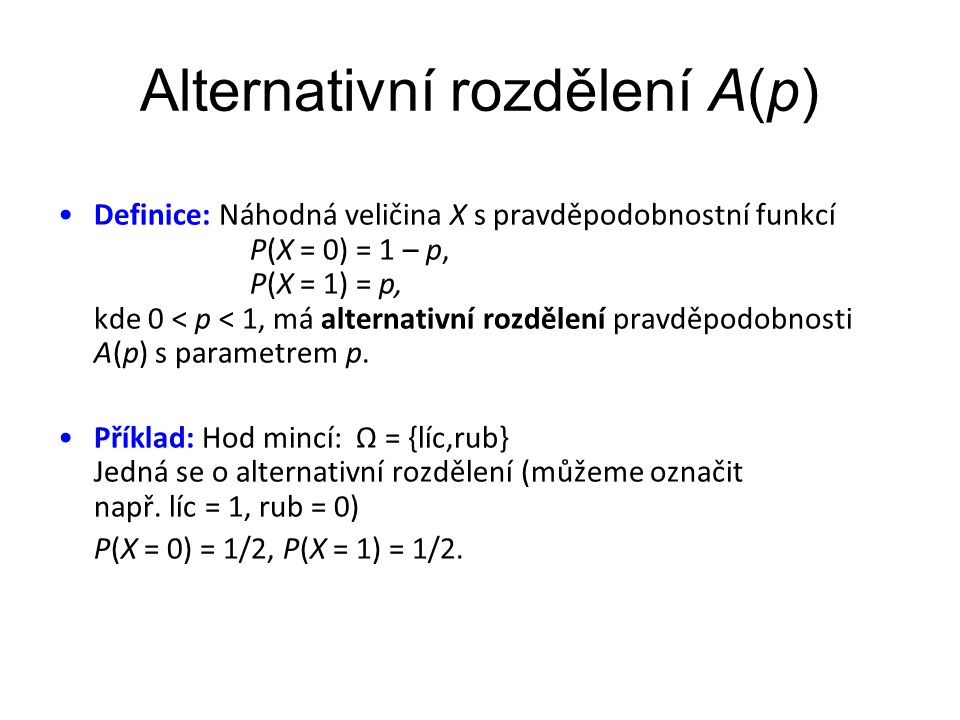 Alternativní rozdělení A(p)