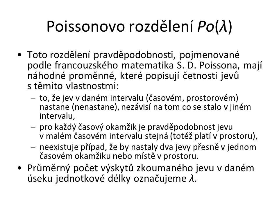 Poissonovo rozdělení Po(λ)