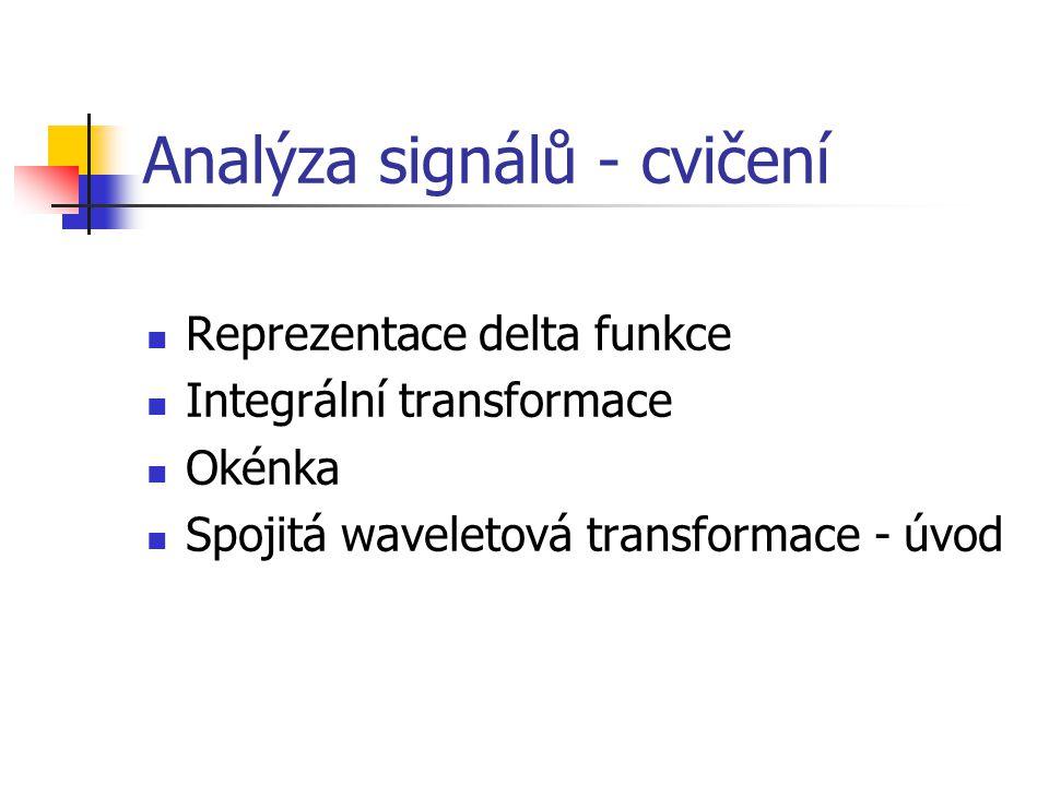 Analýza signálů - cvičení