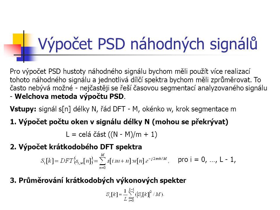 Výpočet PSD náhodných signálů