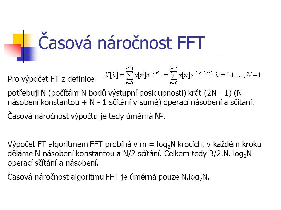 Časová náročnost FFT Pro výpočet FT z definice