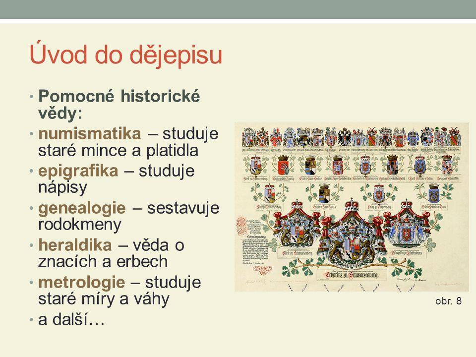 Úvod do dějepisu Pomocné historické vědy: