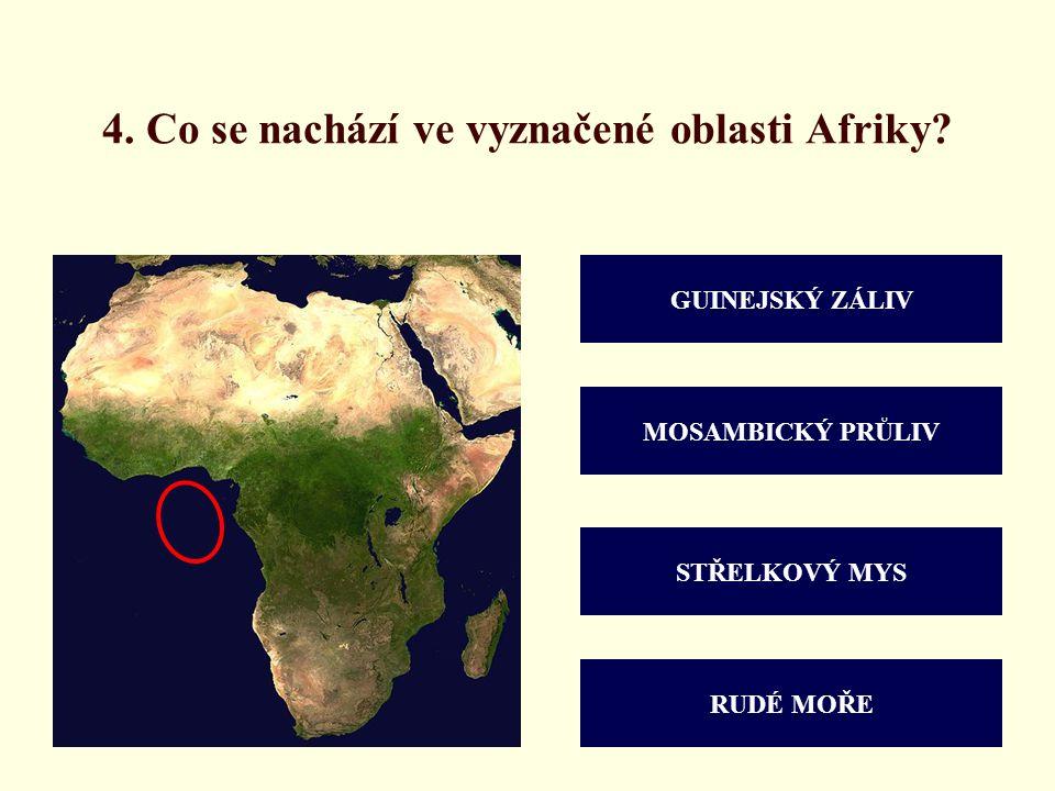 4. Co se nachází ve vyznačené oblasti Afriky