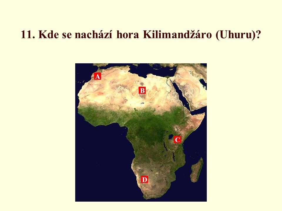 11. Kde se nachází hora Kilimandžáro (Uhuru)