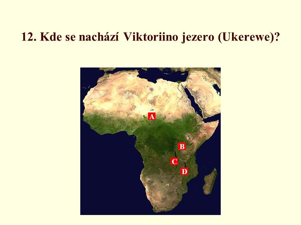 12. Kde se nachází Viktoriino jezero (Ukerewe)
