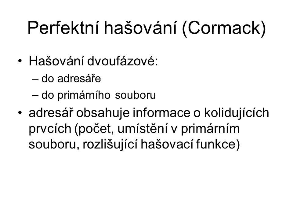 Perfektní hašování (Cormack)
