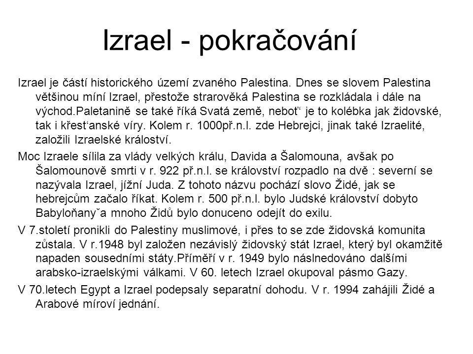 Izrael - pokračování