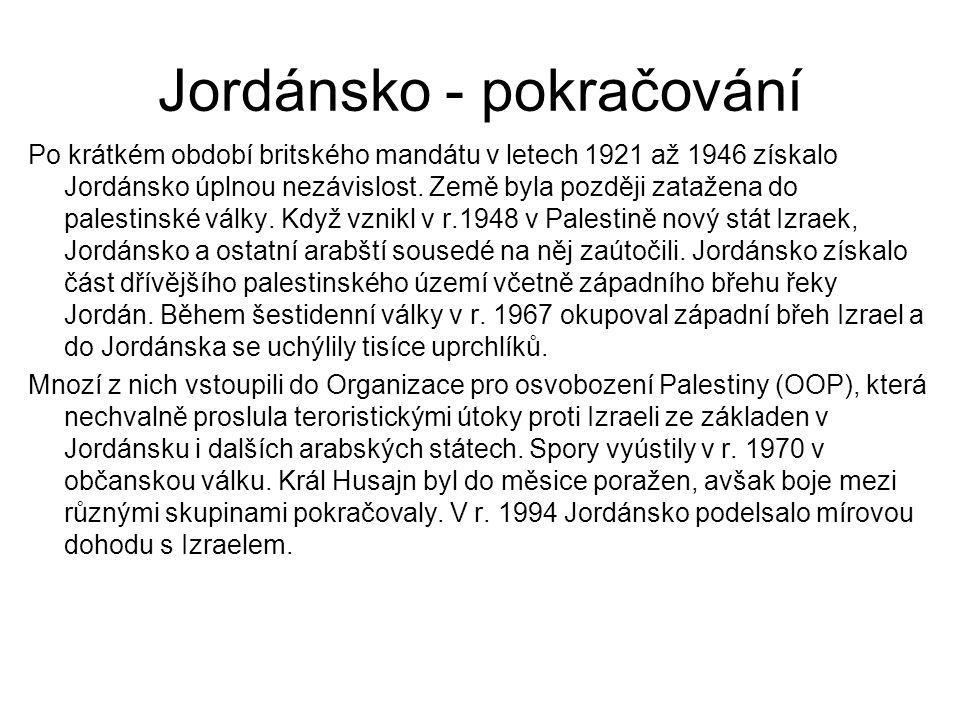 Jordánsko - pokračování