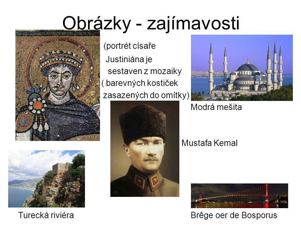 Obrázky - zajímavosti (portrét císaře Justiniána je sestaven z mozaiky