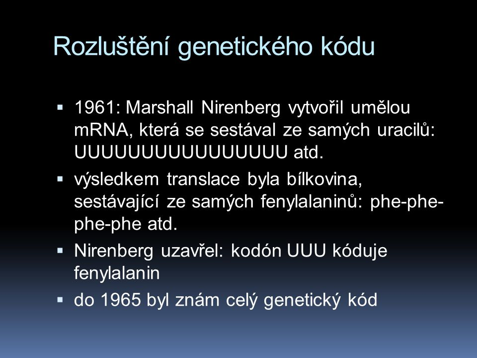 Rozluštění genetického kódu
