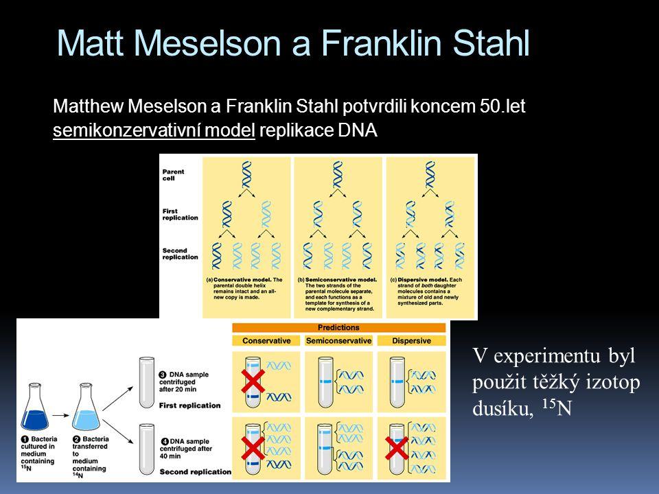 Matt Meselson a Franklin Stahl