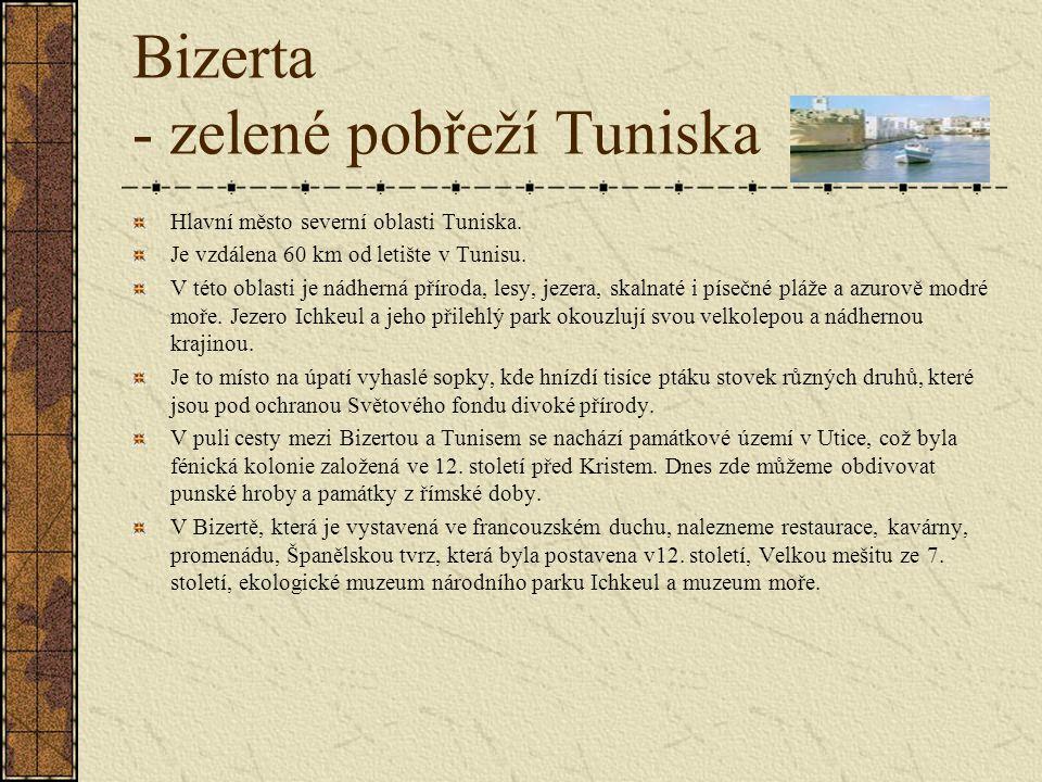 Bizerta - zelené pobřeží Tuniska