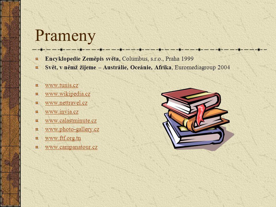 Prameny Encyklopedie Zeměpis světa, Columbus, s.r.o., Praha 1999