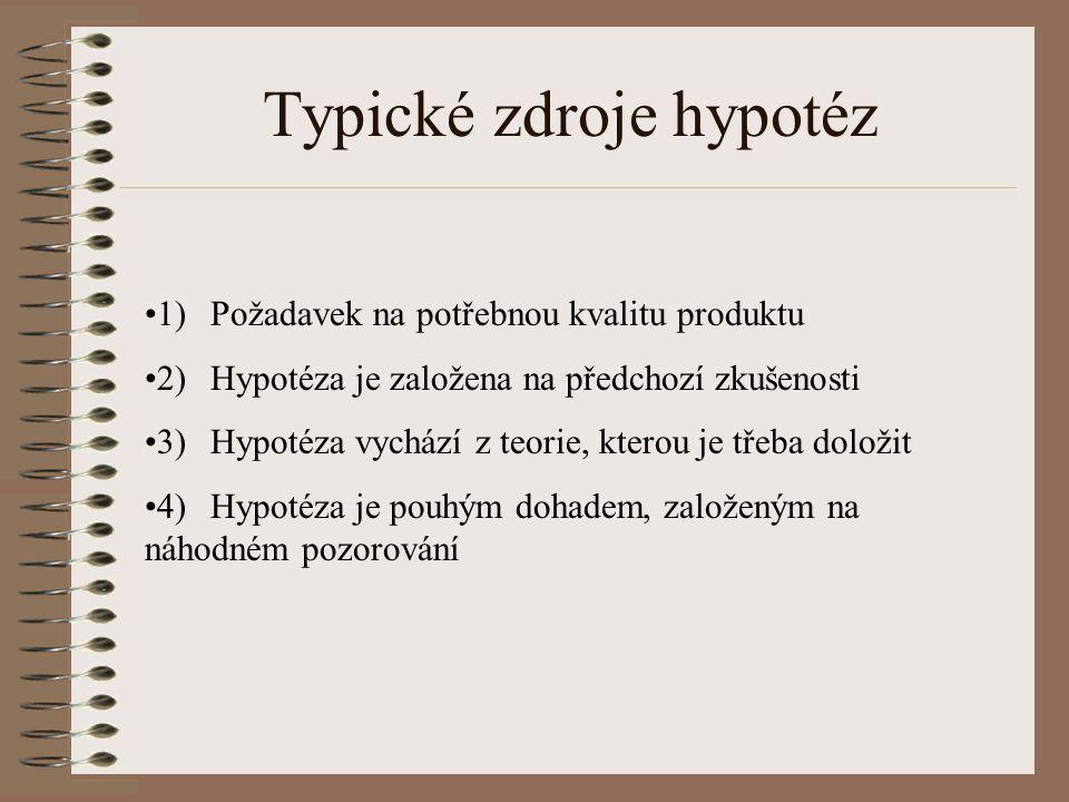 Typické zdroje hypotéz