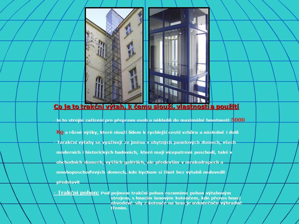 Co je to trakční výtah, k čemu slouží, vlastnosti a použití