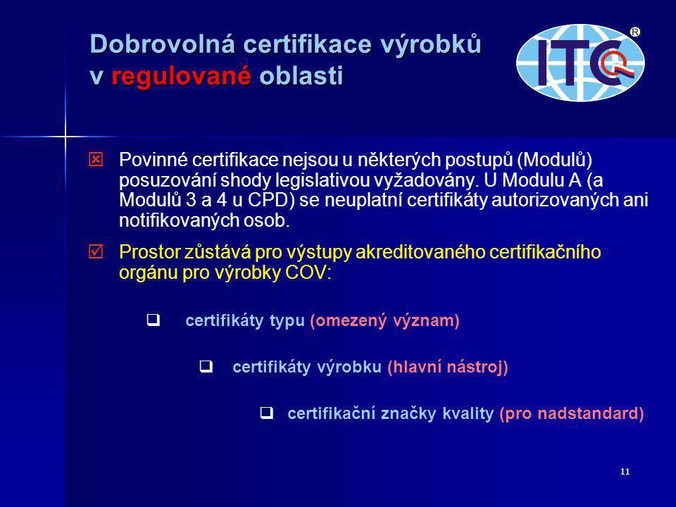 Dobrovolná certifikace výrobků v regulované oblasti