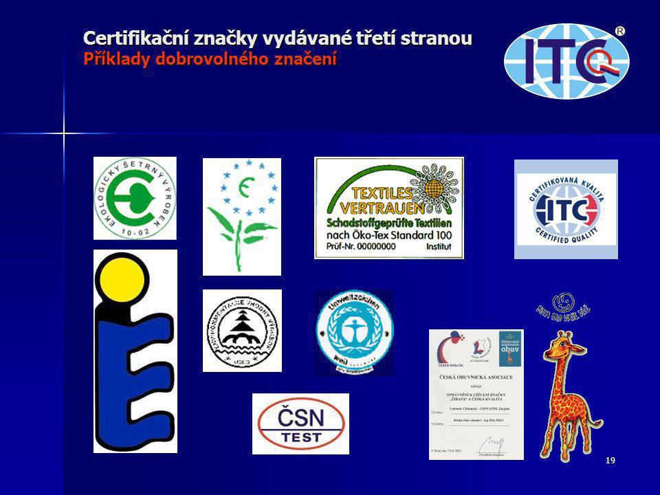 Certifikační značky vydávané třetí stranou