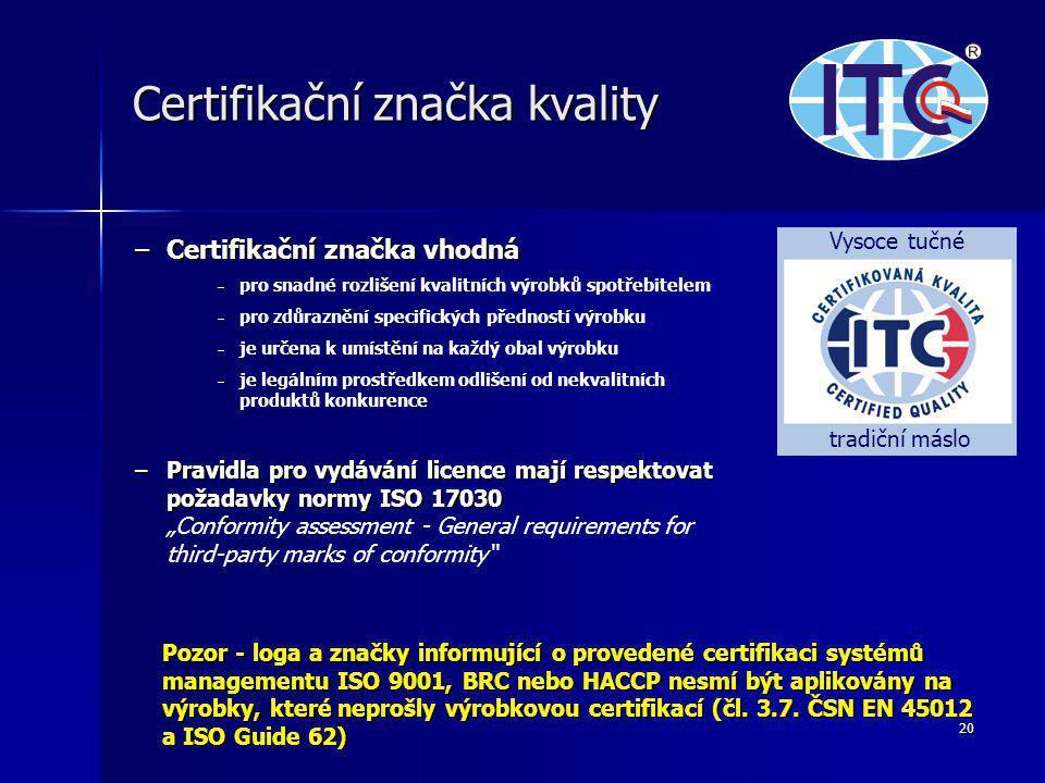 Certifikační značka kvality