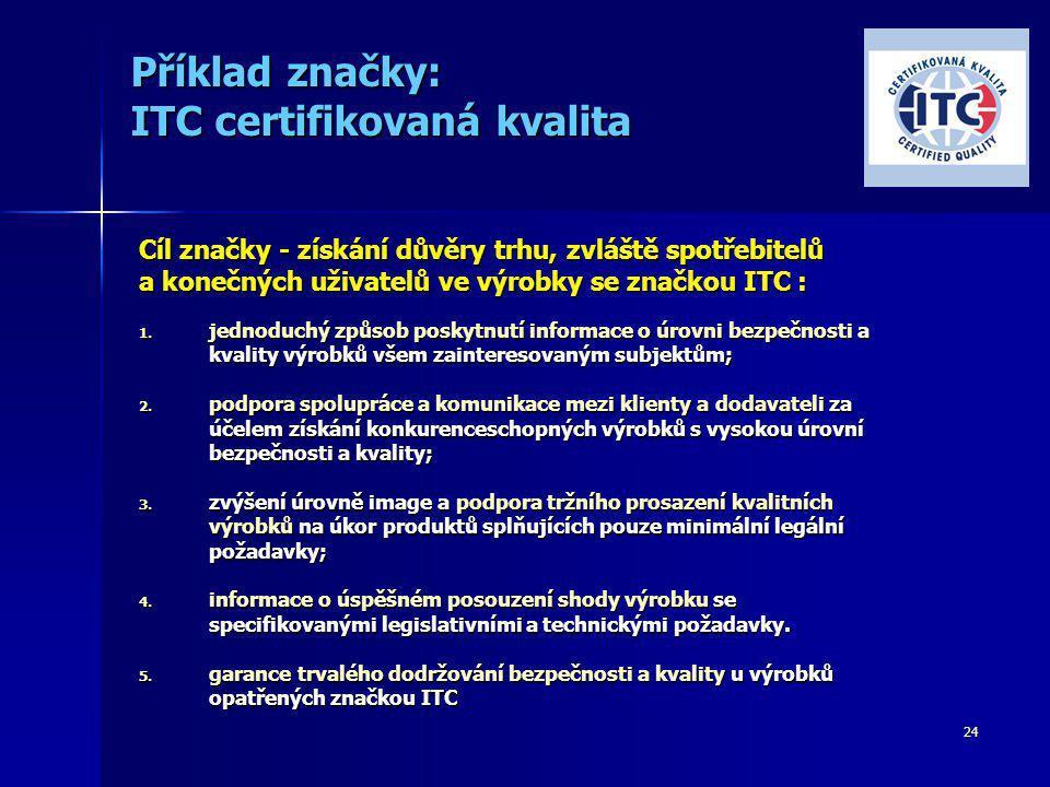 Příklad značky: ITC certifikovaná kvalita