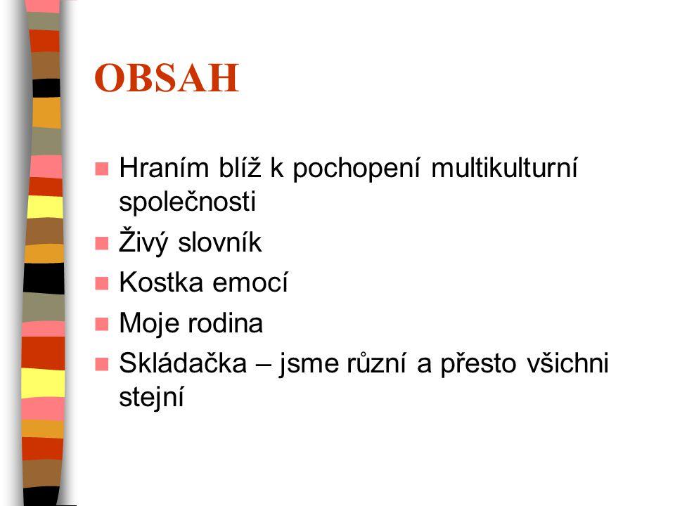OBSAH Hraním blíž k pochopení multikulturní společnosti Živý slovník