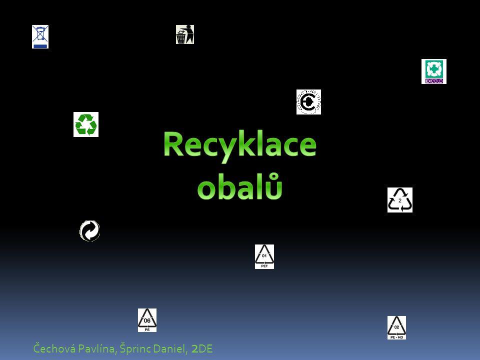 Recyklace obalů Čechová Pavlína, Šprinc Daniel, 2DE